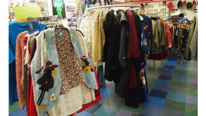 Amused clothing located on Purdue campus carries vintage clothing.  They sell their merchandise at inexpensive prices.