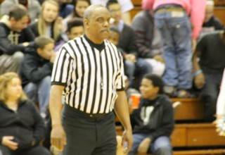 Play Ball: IHSAA referee Haymond Fields was one of the three officials at the J&C hoops classic game on December 6. Fields had to make split second decisions throughout the game between the West Lafayette Red Devils and the Central Catholic Knights.