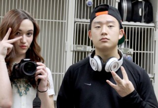 #SELFIESUNDAY: A lot of girls' selfies show the girl rotated away from the camera with their hand partially covering their face.  A lot of guys' selfies feature a backwards snapback and headphones.
