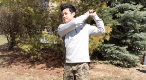 """STRAIGHT HUSTLIN': Joseph Kim hits and holds after one of many brilliant shots.  He gets his famous nickname """"Ghetto Joe"""" from his wrestling coach, Rick Roseman"""