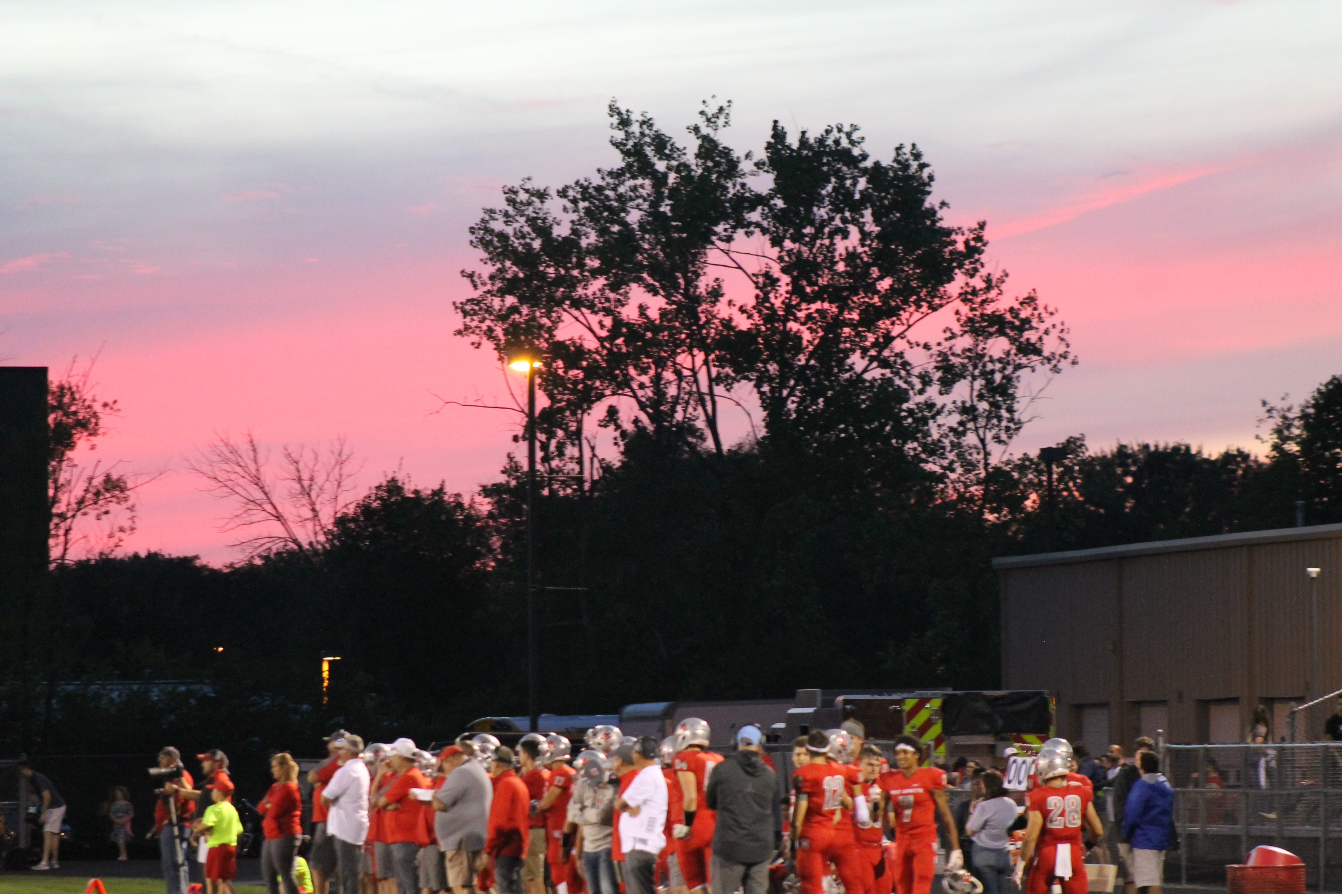 "COTTON CANDY SKY:  The weather was perfect and the sunset revealed a gorgeous pink sky for a beautoful night. ""The players were very determined and made sure the opposing team knew it so overall it was a spectacular game,"" Ramisha Iqbal, 11, said."