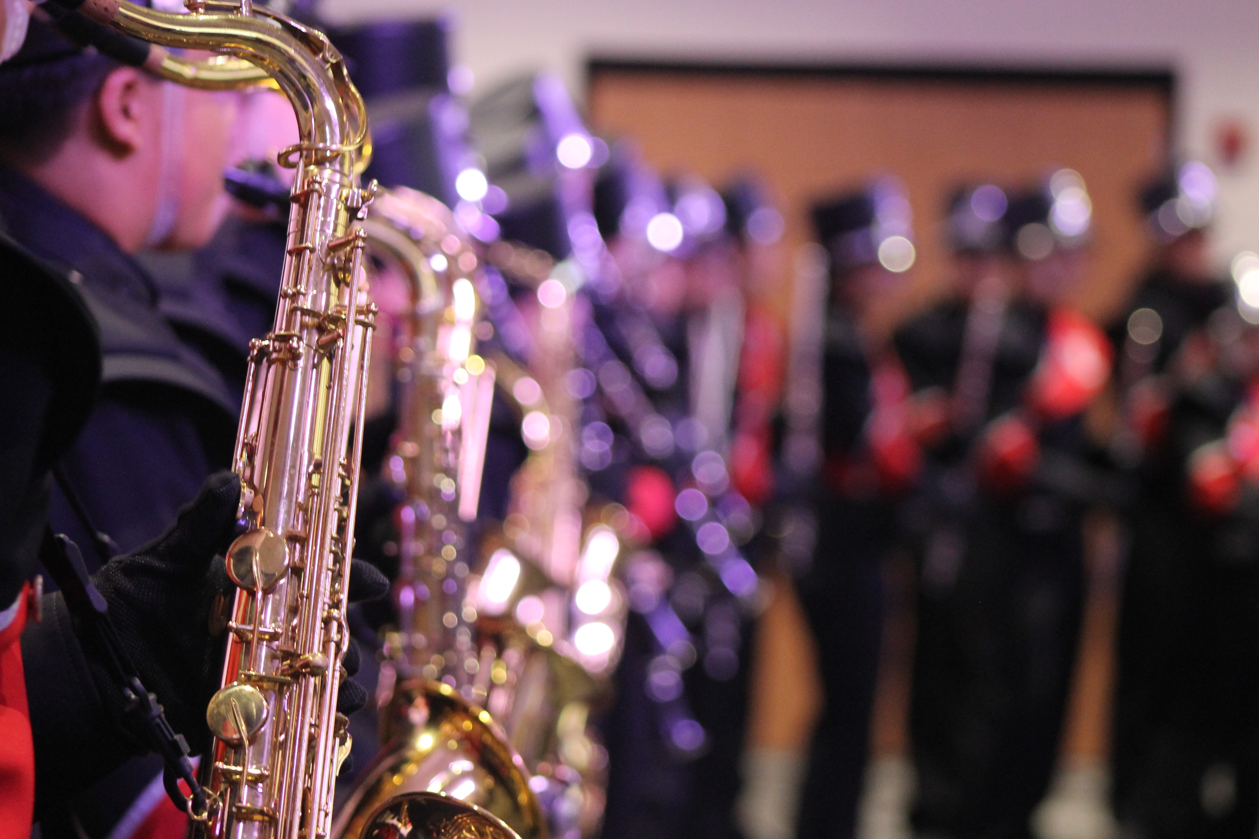 "MUSIC TO EARS: The High School Band performed at the Cafeteria post to the speeches delivered by the faculty and the student representatives from fourth, fifth and sixth graders. ""Everything is perfect in this new amazing school. It's brimming with lights and joy,"" said Eesha Faruqi, a sixth grader at WLIS."